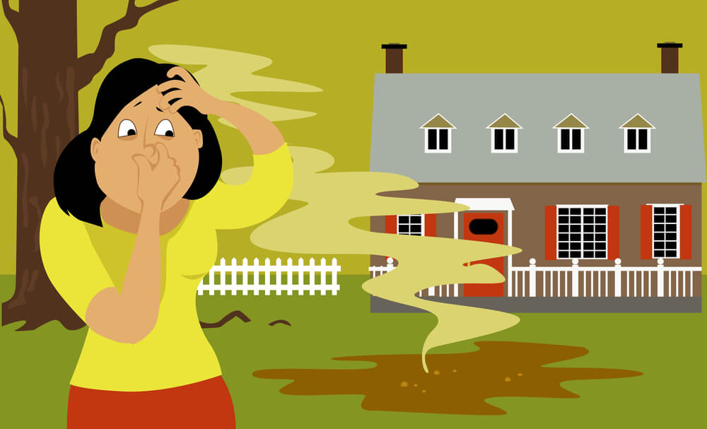 Does your septic tank smell outside global cool for Septic tank fumes in house
