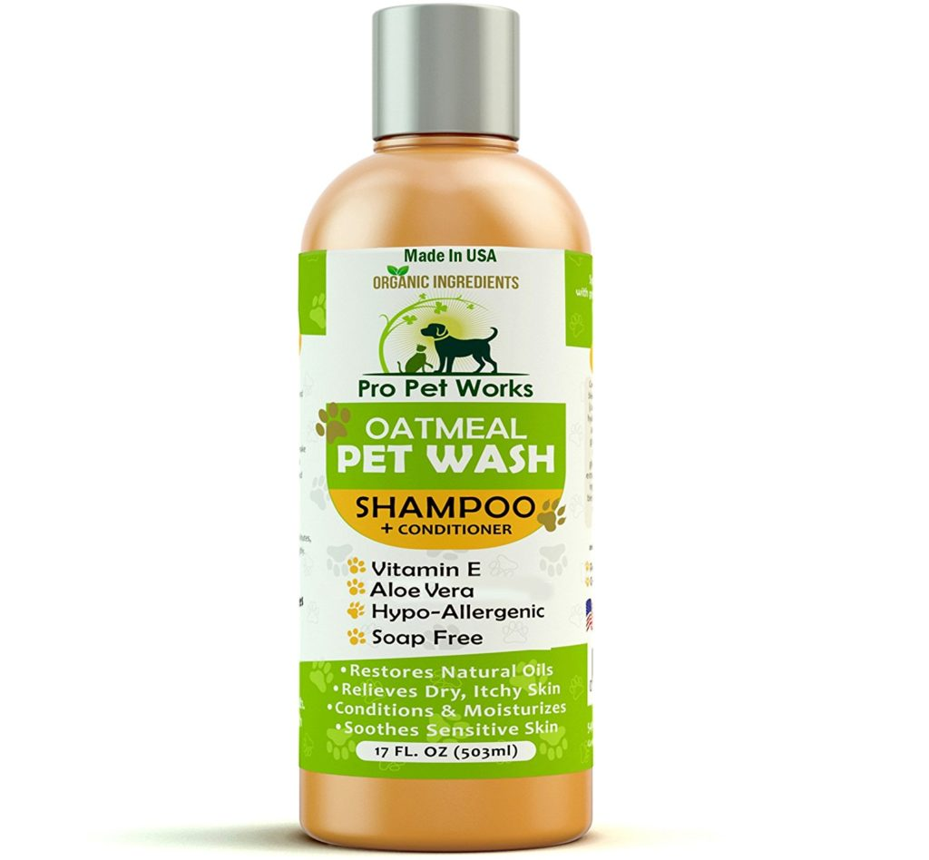 Pro Pet Works Natural Oatmeal Dog Shampoo + Conditioner In One For Dogs And Cats