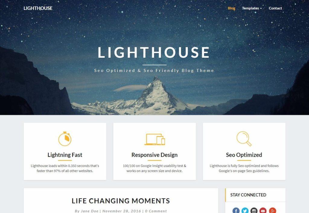 The Lighthouse Blog Theme.