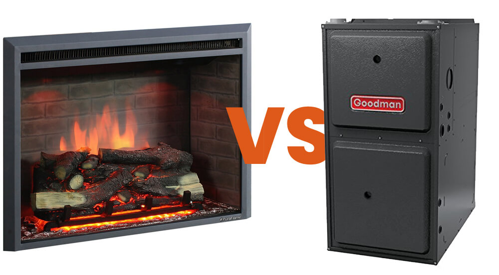 what uses more gas fireplace or furnace